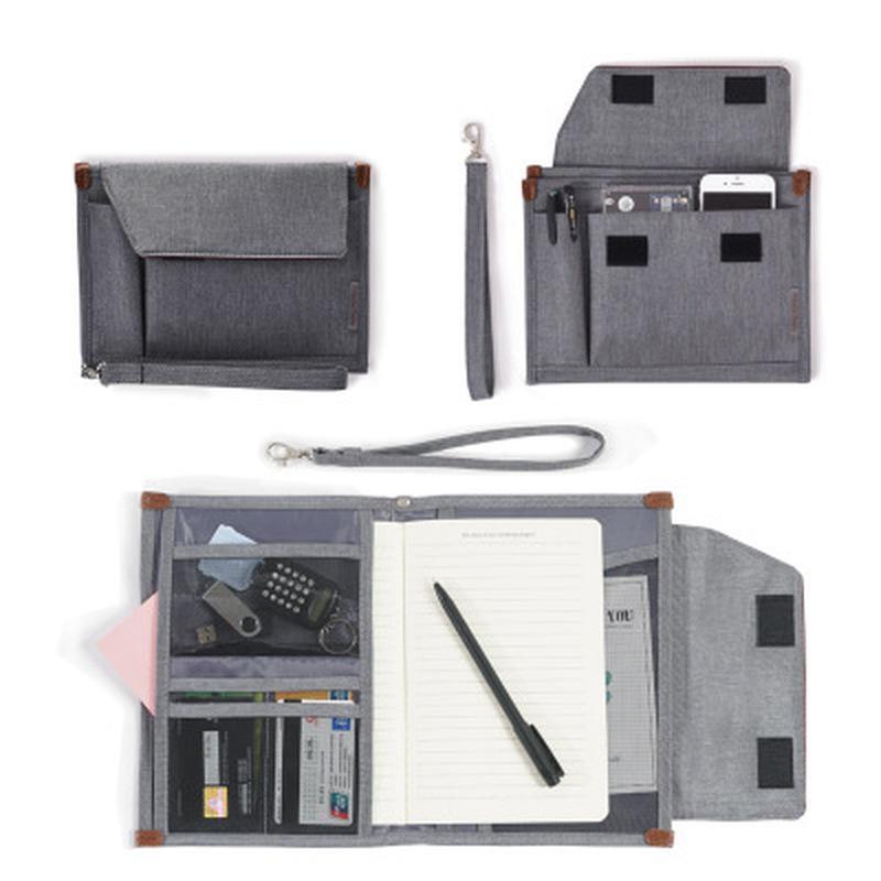 Многослойный Бизнес сумка для хранения Портативный Многофункциональный USB кабель Зарядное устройство Наушники Паспорт Файлы Credential пакет Организатор