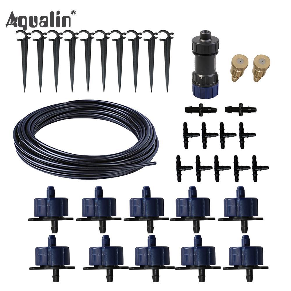 Chegada Nova 10m 4/7 Mangueira Automatic Drip Sistema de irrigação do jardim gotejadores Rega Kits com Válvula Redutora de Pressão # 26301-6 T200530