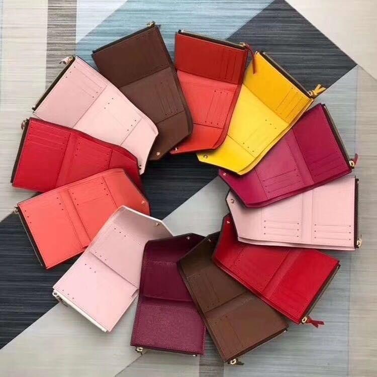 donne all'ingrosso borsa della moneta portafoglio in pelle multicolor portafoglio breve supporto di carta policromatica borsa della signora Mini classica tasca con cerniera