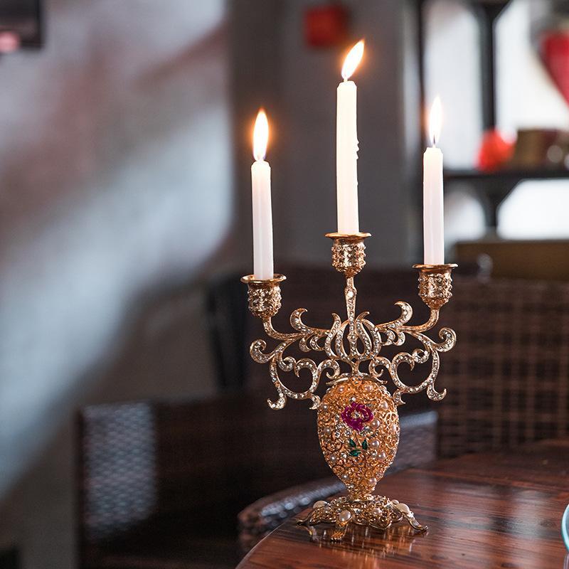 Los titulares barroco europeo occidental restaurante labrado de la decoración de la vela Hogar Decoración Decoraciones de boda manualidades