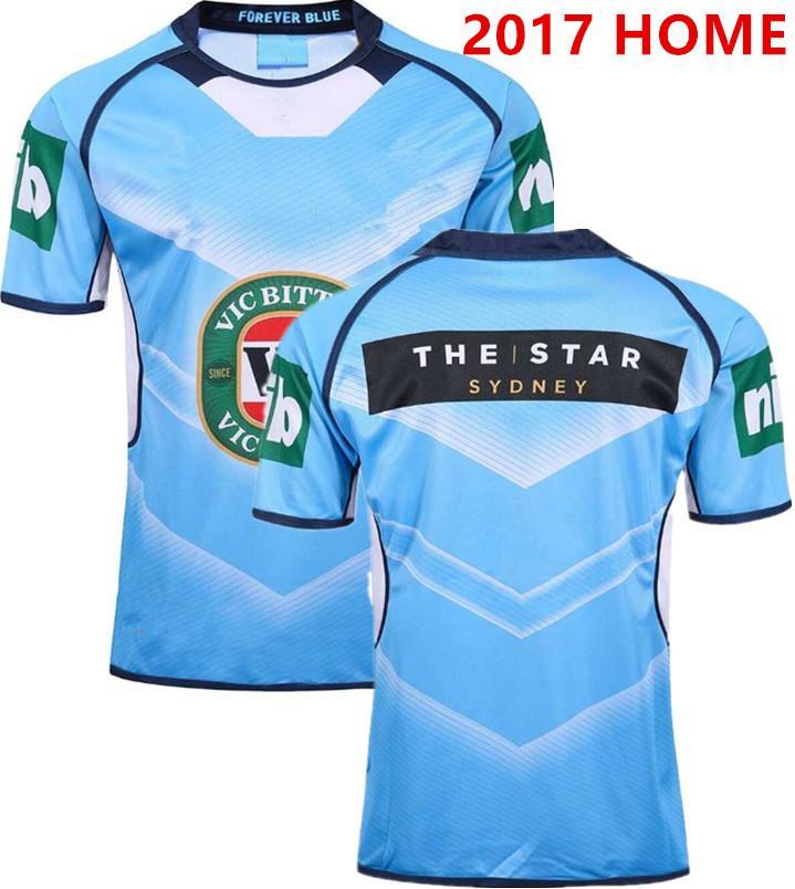 NSW Estado de origem 2018 ELITE TRAINING TEE luz azul NSW azuis New South Wales azuis camisola de rugby 2018 tamanho CAPTAINS HOLDEN S-L-5XL