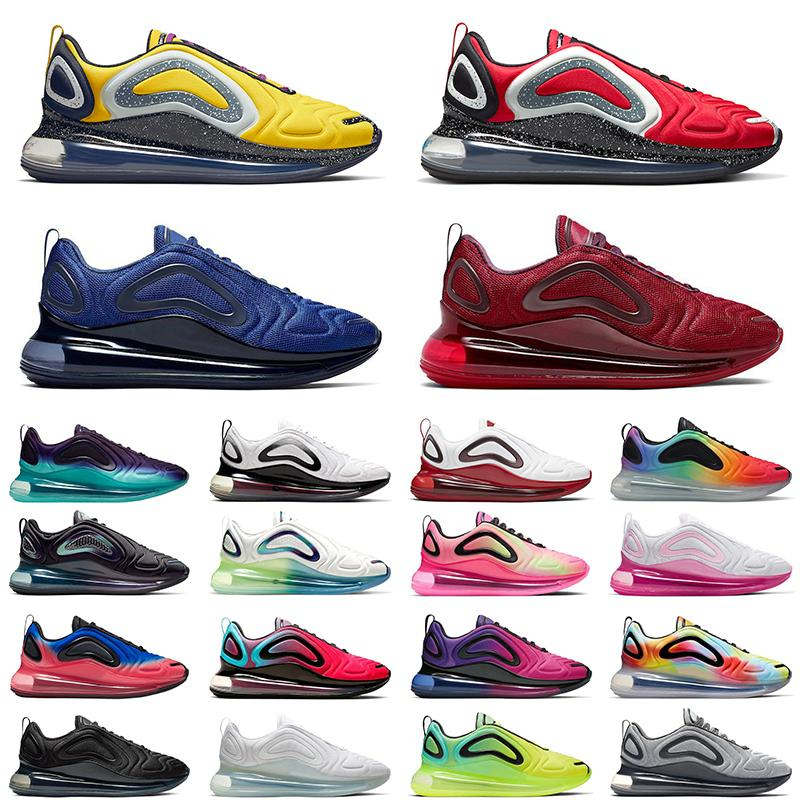 air max White Volt 720 Mens Running shoes Cosmic Aurora Wolf Grey Psychic Powder Multi-Color Metallic Black Hyper Men women Sports sneakers 36-45