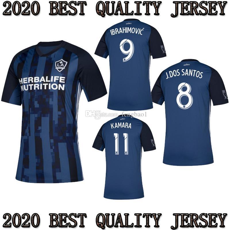 Acquista TOP 2019 2020 MLS La Galaxy Zlatan IBRAHIMOVIC Soccer Jerseys 19 20 Los Angeles Galaxy Away Blu GIOVANI J.DOS SANTOS Maglie Di Calcio A 15,1 ...