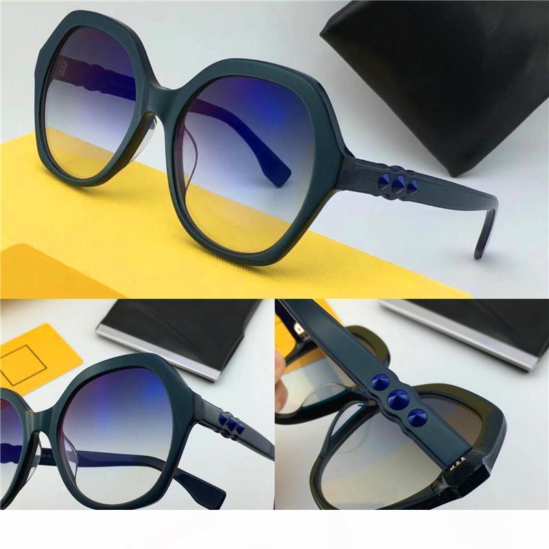 Nuovo stilista degli occhiali da sole cornice circolare cornice generoso semplice stile di alta qualità UV 400 occhiali di protezione per le donne 0270