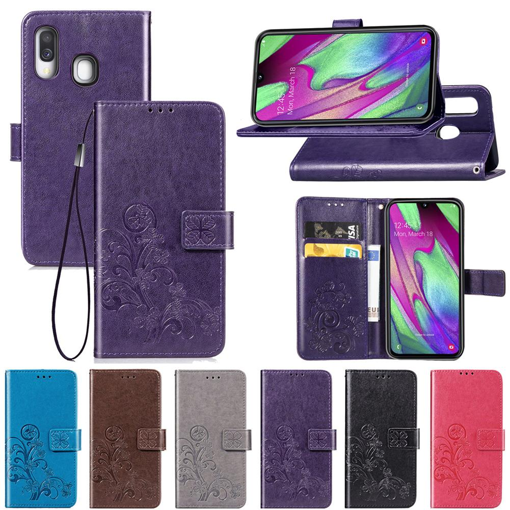 Purple PU Leather Wallet Flip Case for Samsung Galaxy A70 Positive Cover Compatible with Samsung Galaxy A70