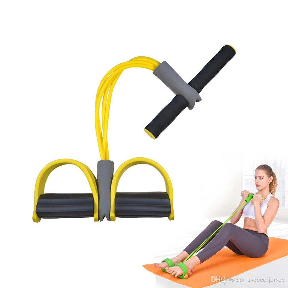 Gum aptidão 4 Tubo faixas da resistência látex Pedal exercitador Sit-up Tração da corda Expander Elastic Bands Yoga equipamentos Pilates Workout