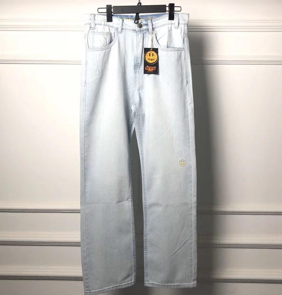 2020 Yeni Streetwear Hip hop Justin Bieber Drew Ev yıkanmış eski bağbozumu DrewHouse kot Uzun pantolon işlemeli