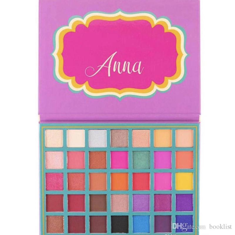 2019 Newest Hot Makeup Palette Anna 35colors Eye shadow Palette Shimmer Matte High quality DHL shipping
