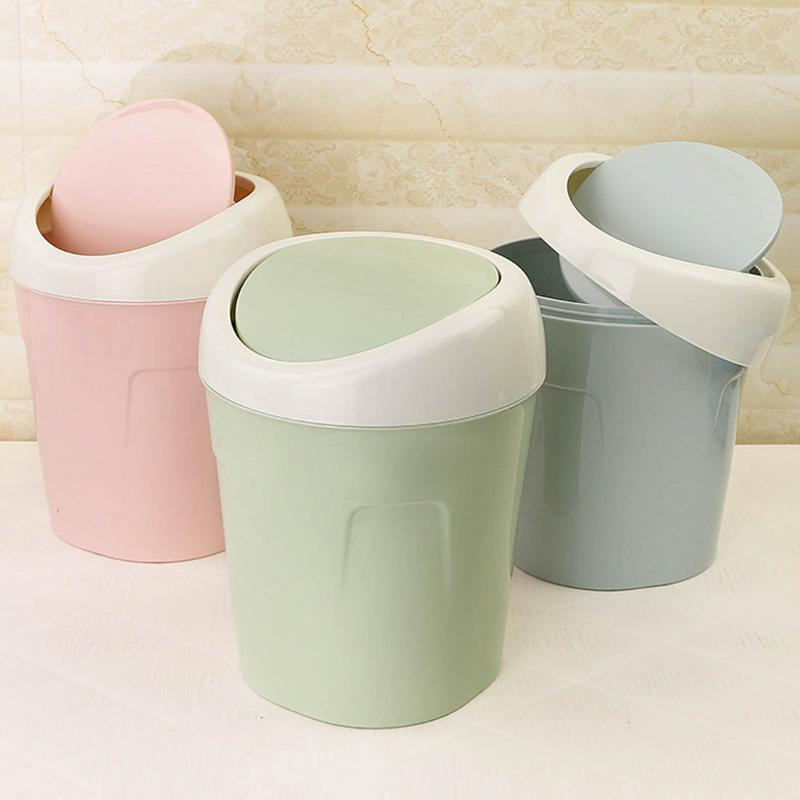 2020 Trash Can Creative Mini Desktop Plastic Bucket Bin Kitchen Household Supplies Bedroom Small Trash Bin From Galry 33 34 Dhgate Com