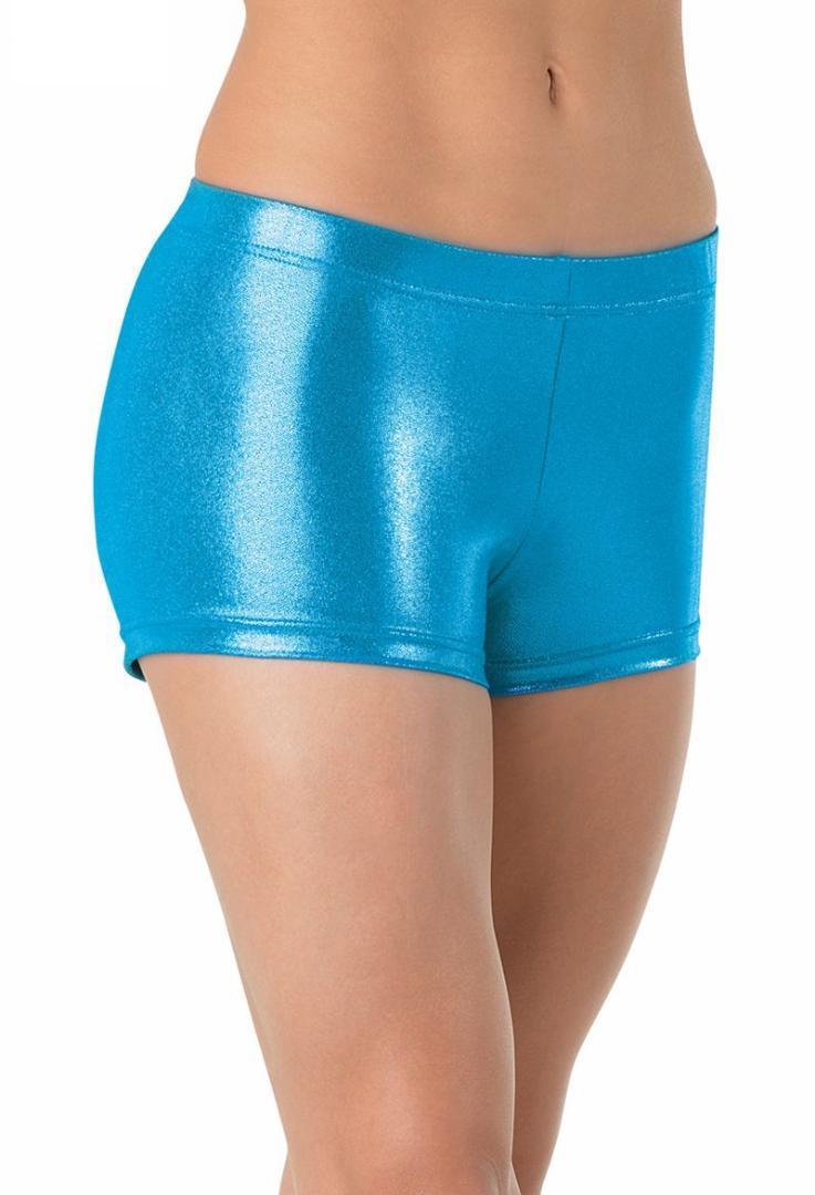Adultos Calções De Dança Metalizados Spandex Mulheres Cuecas Brilhantes Ginástica Shorts Baixo Desempenho No Palco Da Cintura
