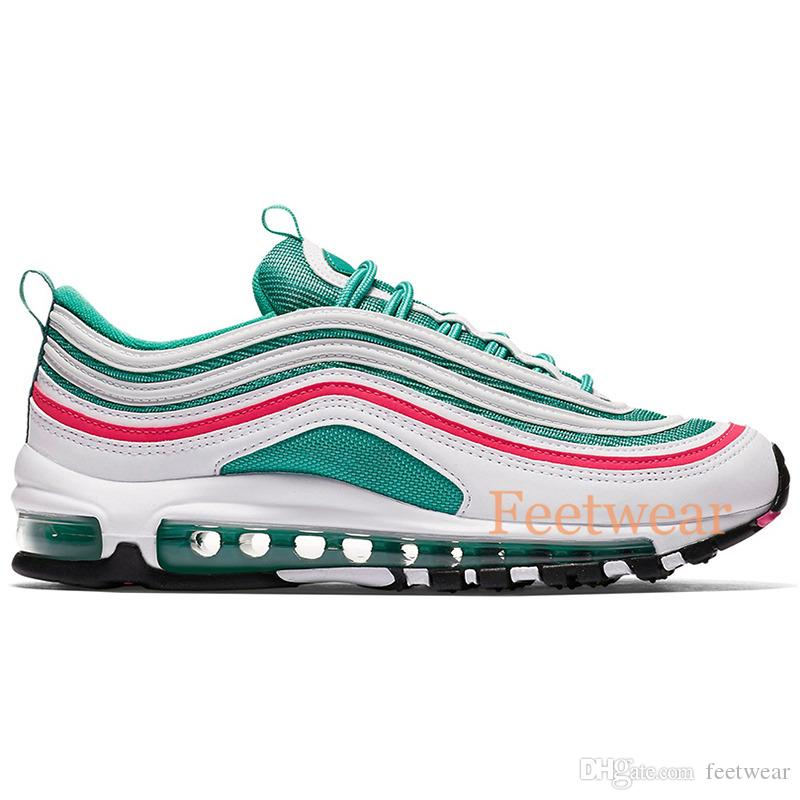 Nike air max 97 iridiscentes Layser White Neon Seoul 97OG para hombre Guava Ice Barely Rose Michigan Parra Triple Black White Zapatos Trainers