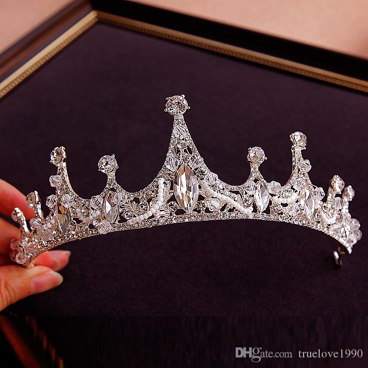 Высший Сорт Принцесса Серебро Кристаллы Диадемы Короны Свадебные Диадемы Аксессуары Свадебные Диадемы/Короны T308832