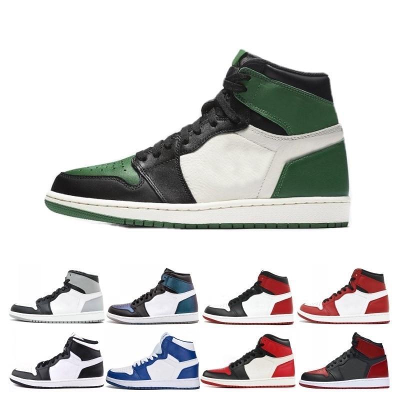 Yeni tasarımcı 1 1s erkekler basketbol ayakkabıları Fragment Yeni Aşk Siyah Parmak Altın Top 3 Çam Yeşil Gölge Kamuflaj Chicago spor ayakkabı