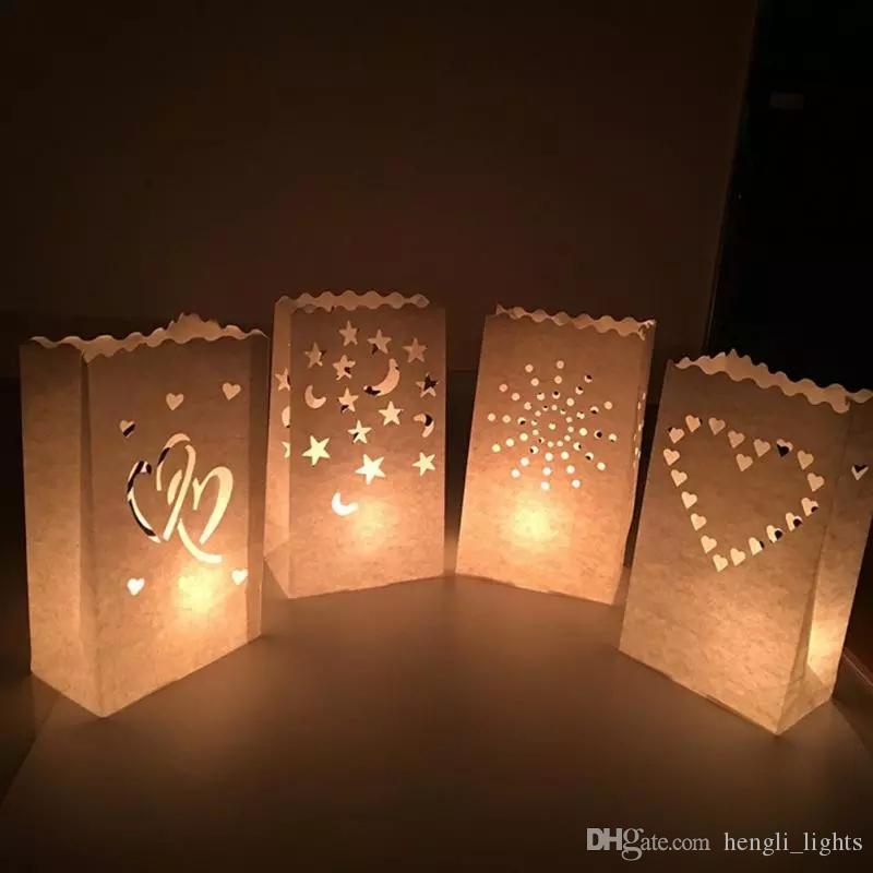 Lampion mariage lampion Bougeoir Sac romantique Accueil Wedding Party Supplies Décoration JK0285