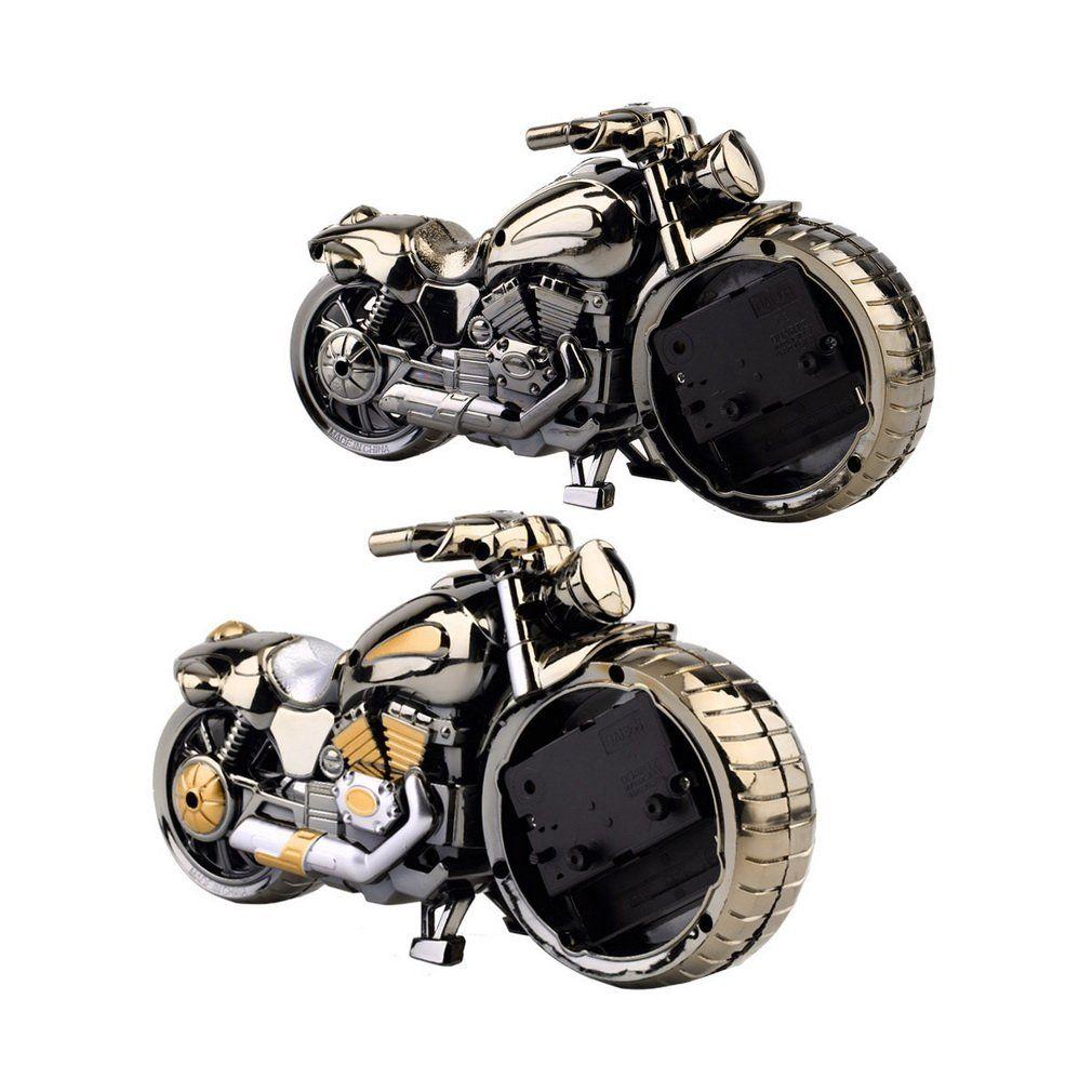 Creative Motorcycle Clock Motorbike Pattern Alarm Desk Clocks Vintage Desktop Watches Xmas Christmas Festival Decor Gift