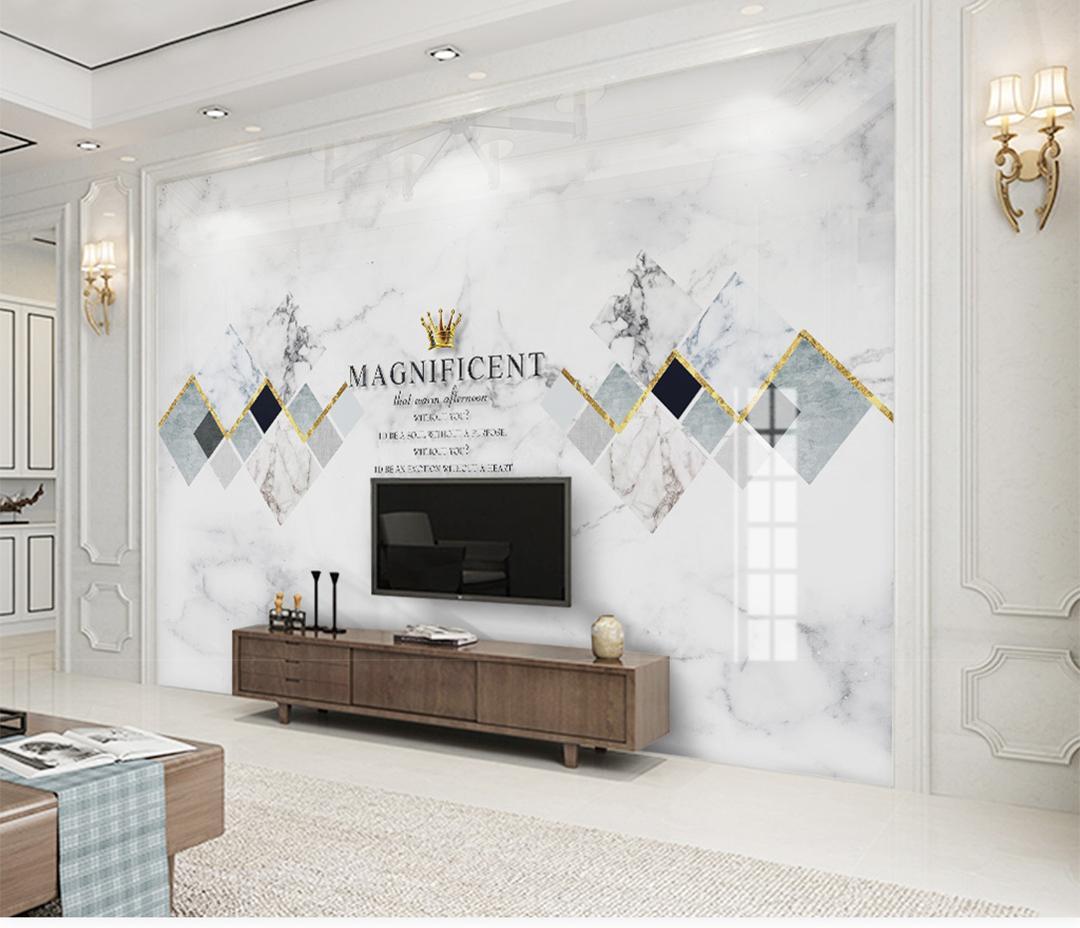 Papier Peint Chambre Moderne acheter personnalisé mur papier peint 3d moderne minimaliste jazz blanc  marbre géométrique carré salon chambre fond fond décoration murale papier