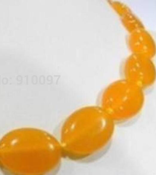 Halskette frei HH ## Charming! 13X18MM gelbe Jade Halskette 18