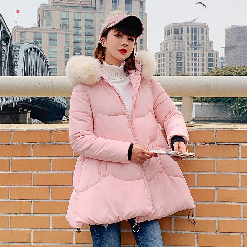 Women's Winter Coats Female Winter jacket Fashion Women Thicken Warm Cotton Padded Down Parkas Coat Faux Fur Collar Coat