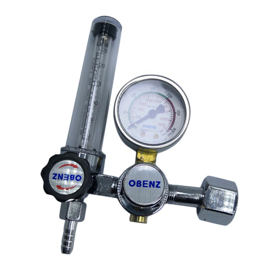 Bottiglia Nuovo Argon bombola per gas TIG regolatore di pressione del riduttore Saldatore Gauge