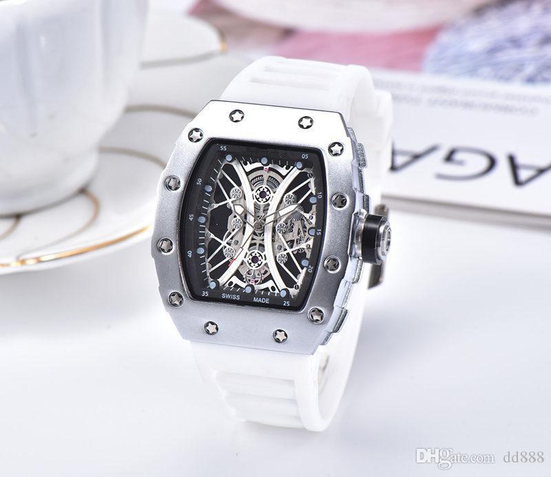 2019 ultima versione di sport del silicone cinghia militari Wath centro l'uomo orologio-calendario reloje guarda la libertà dell'uomo di