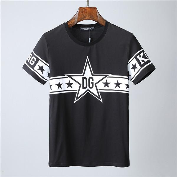 2020 yaz Avrupa ve Amerikan sınır ötesi dış ticaret erkek giyim yuvarlak boyun ince kısa kollu tişört üst @ 2061