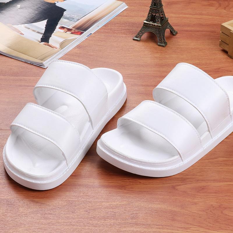 Été Hipster édition coréenne pino cao pu xinhui avec Harajuku rétro pantoufles à plat à double ceinture casual pour les hommes et les femmes