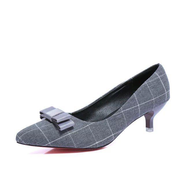 Bombas de salto baixo gatinho tecido feminino apontou dedo do pé fechado slipknot vestido de festa sapatos de casamento