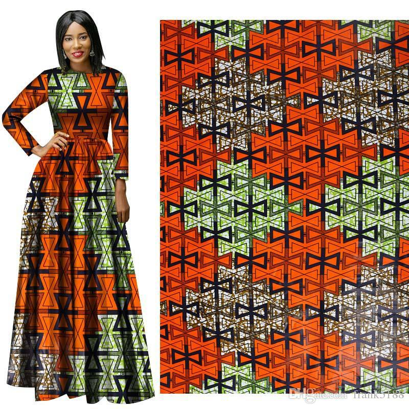 Latest style fabric Cotton African Wax Clothes Dutch Wax 6 yards for party dress african new wax hollandais cloth