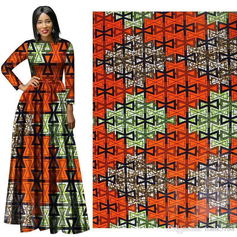 Mais recente estilo de tecido de Algodão Africano Cera Roupas cera holandesa 6 metros para o vestido de festa africano novo hollandais pano de cera