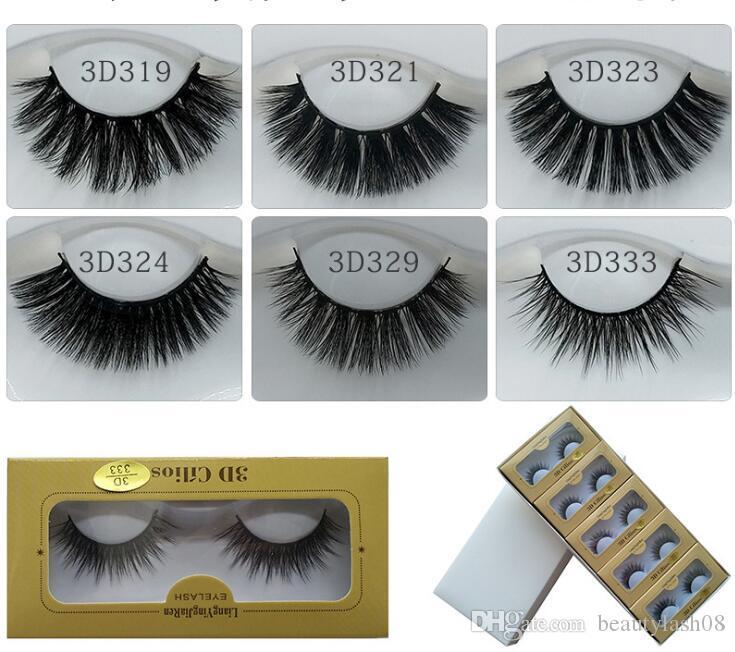 New 1 pairs Luxury 3D False Lashes natural false eyelashes fake lashes Long Natural Party makeup extension eyelash mink