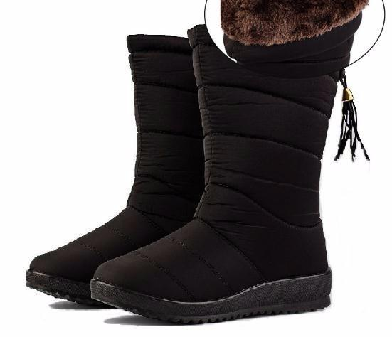 Neige Wedge Imperméable Bootie En Semelle Chaussures D'hiver En Peluche Mi Bottes Mollet Vers Le Bas Dames Acheter Femmes Causales Caoutchouc Femme 8n0wOXNPkZ