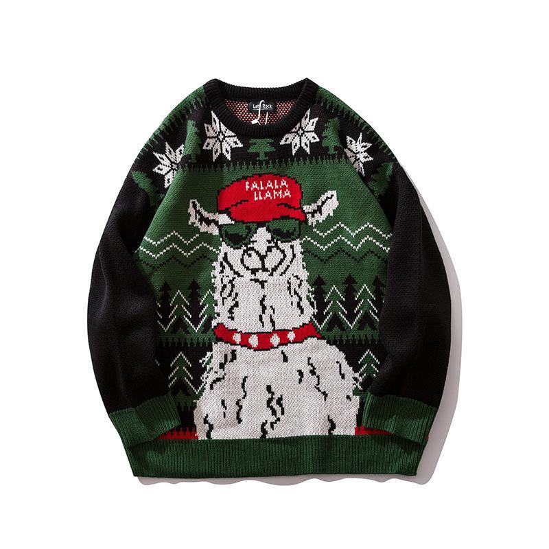 Мужской свитер Дизайнерский рождественский палевый жаккардовый ленивый свитер Мужской модный свитер футболки