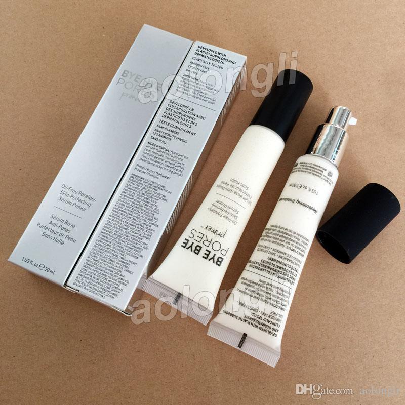 Face Makeup BYE BYE Pores Primer Poreless Skin Perfecting Primer Foundation Cream 30ml Oil-free Primer Cosmetics DHL free shipping