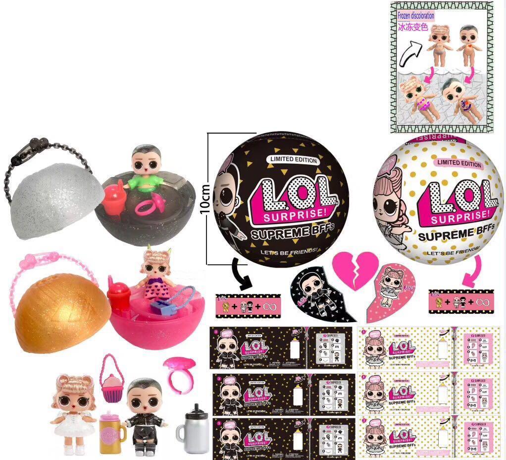 Bola Brinquedos 10cm Bffs boneca Hairgoals reforma e Bling Brinquedos Os melhores presentes para crianças brinquedos boneca