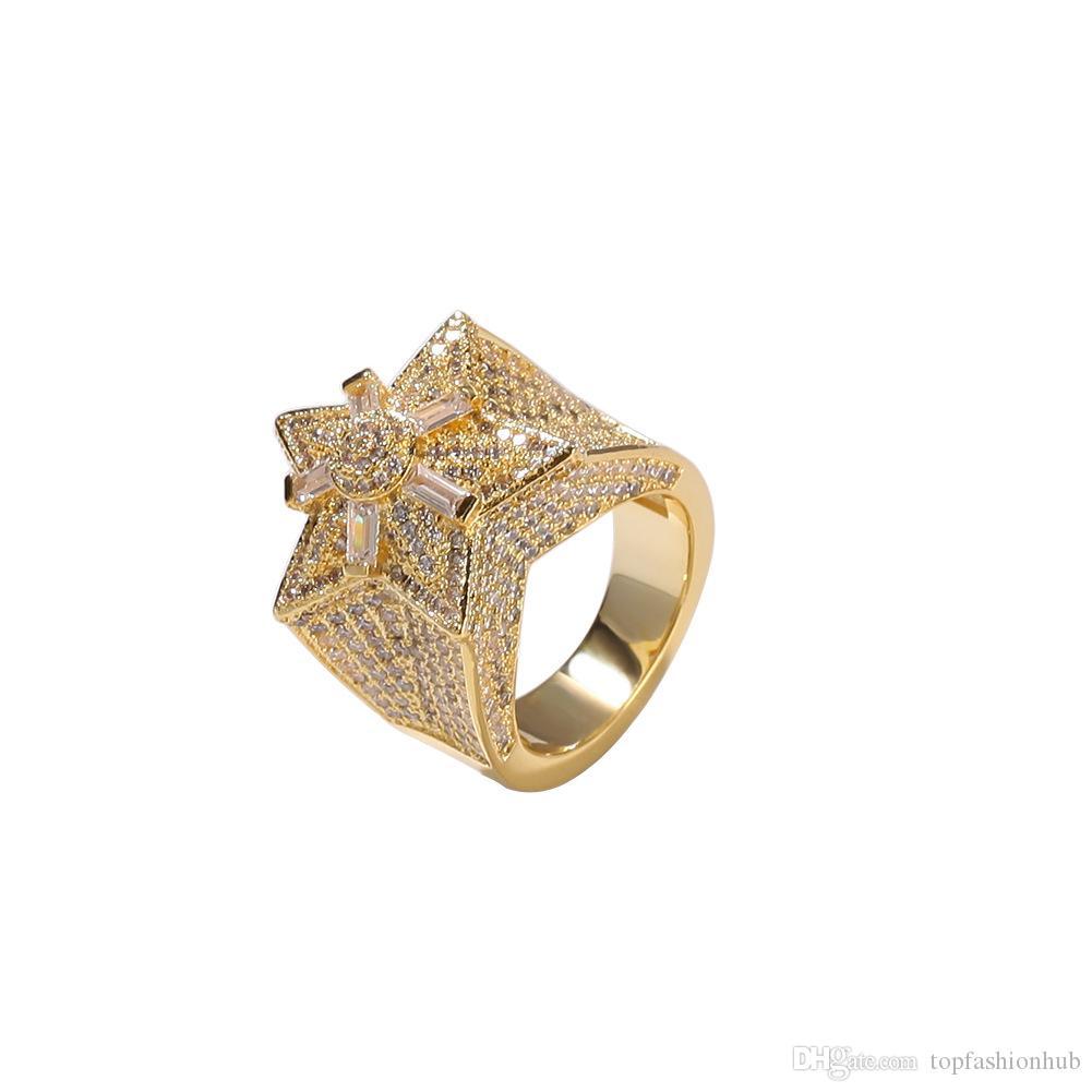 Five-Stared Zircon Ring Design 플라워 스타 링 Euramerican 힙합 쥬얼리 신품