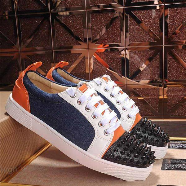 Designer de luxo hococal Sneakers Homens Mulheres Sapatos casuais baixo-parte superior enchida Spikes Plataformas Formadores de fundo vermelho calça o tamanho da sapatilha 36-45