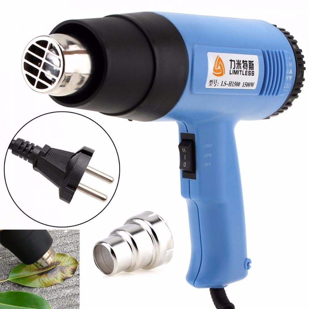 Limitless alta qualidade AC220V EU Plug 1500W Air volume ajustável Electric Heat Gun Multifuncional Handheld Hotair Gun
