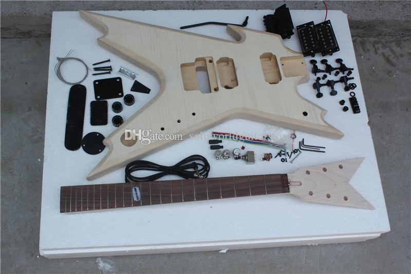 Factory Custom Special Shape Electric Guitar with Basswood body,Rosewood Fingerboard,Can be customized as your request
