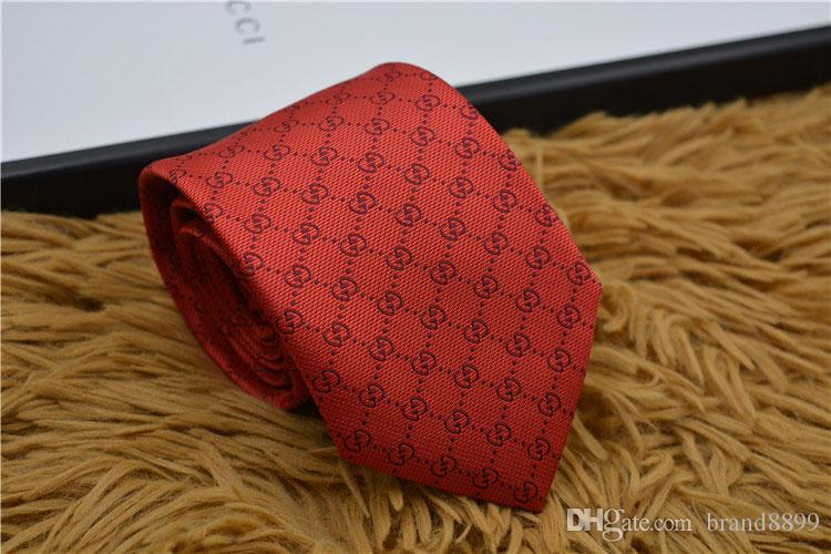 New 17 style designer tie brand silk ties high quality tie business tie narrow edition original packaging box High quality hot seller G8902