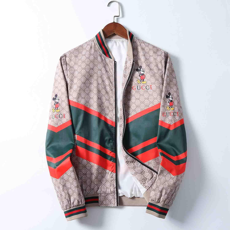 2020 Frühling und Herbst der neuen para hombre-Diseño-Jacken-Qualitäts-Luxus und leichte dünne Jacke Lässige Stehkragen medusa Jacke más Größe M-3