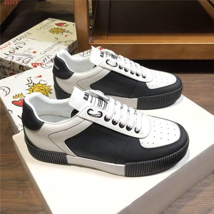 Mens Dernières espadrilles blanches occasionnels classique Top tissu en cuir de qualité respirant chaussures de jogging semelle plate bas-top confortable, avec boîte