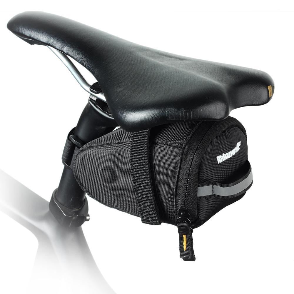 Водонепроницаемый велосипедное седло мешок Rhinowalk T603 1L MTB сзади под сиденье хвост мешок Ultra Light полиэстер сумка Велоспорт аксессуары