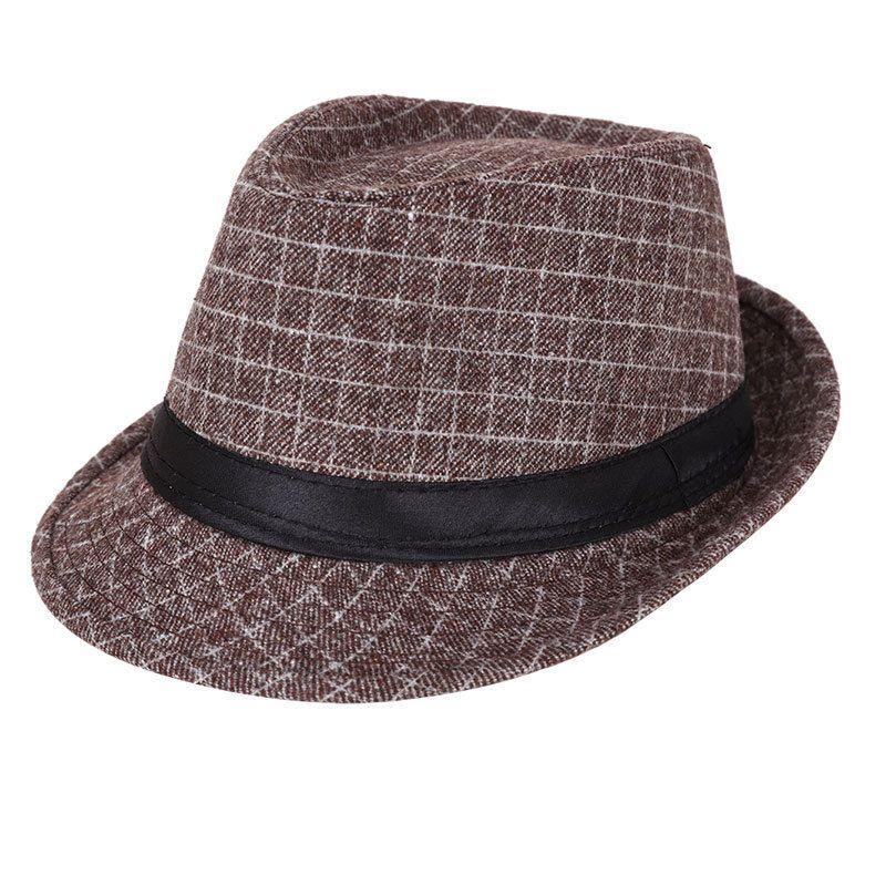 الرجال الرسمي ناقوسية قبعة دلو الهواء الطلق وترفيه جاز دافئ مخطط القبعة منتصف العمر البريطانية على غرار المد والجزر المتناثرة القبعات