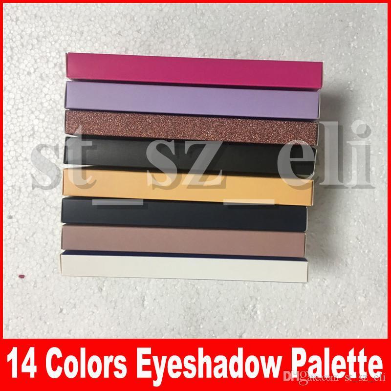 Palette de fard à paupières moderne de maquillage chaud 14 couleurs limitée palette de fard à paupières avec palette de fard à paupières pinceau 8 styles