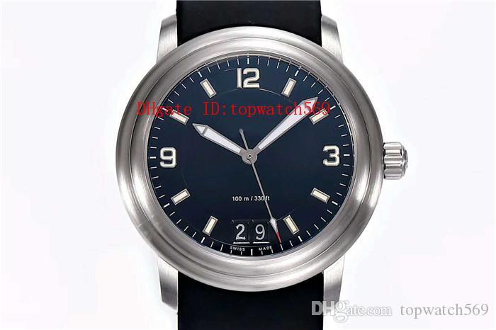 HG fábrica LEMAN reloj del reloj mecánico automático suizo 6950 28800 VPH Big Date cristal de zafiro acero inoxidable súper Luminiscents
