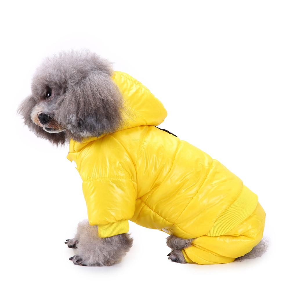 Transer Dog Cotton Suit Clothes For Dogs Winter Polyester Puppy Jacket Warm Clothing Sleeveless 18 Dec4