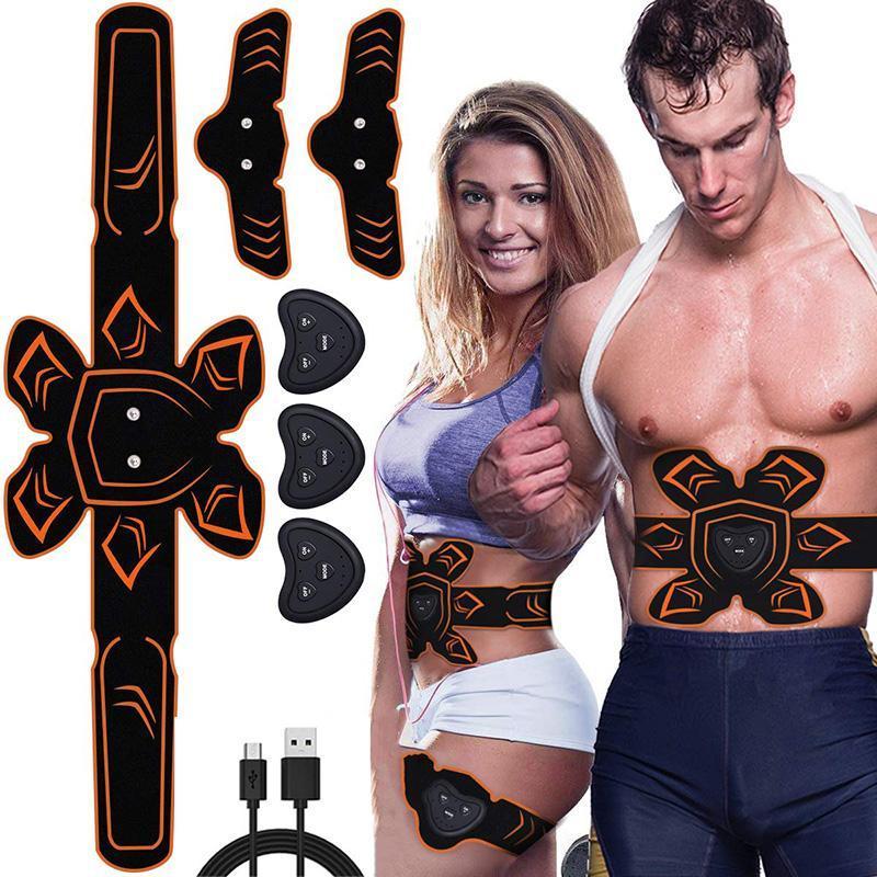 Perdita ABS stimolatore muscolare Toner SME Trainer Vibration massaggio addominale tonificante Belt Addome piedino del braccio del corpo che dimagrisce Shaper Peso