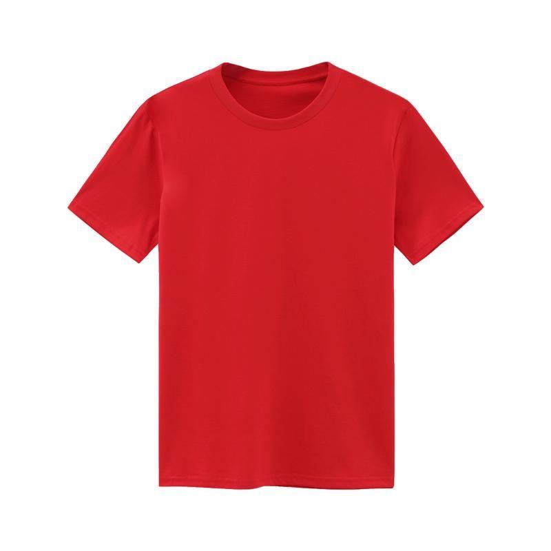 Summer Men Top Red T Shirt Cotton Oversized