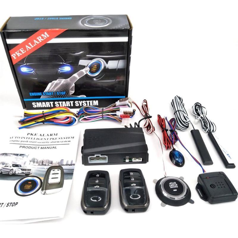 Alarme Partol Chave Inteligente PKE Car Passive Keyless Entry Car System Motor Start Stop Botão remoto X5 de arranque Sensor