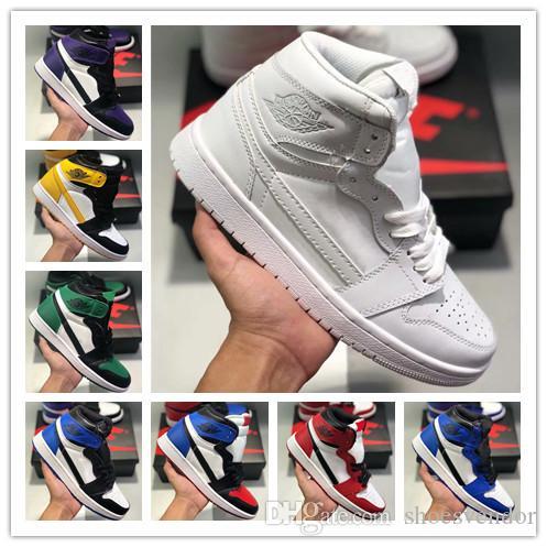 air j1 retro haut og orteil chicago banni jeu noir royal femmes mens chaussures de basketball designer 1s brisé le panneau arrière sadow sport chaussures
